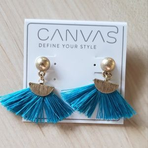 Turquoise tassel earrings